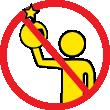 Kast ikke fyrværkeri