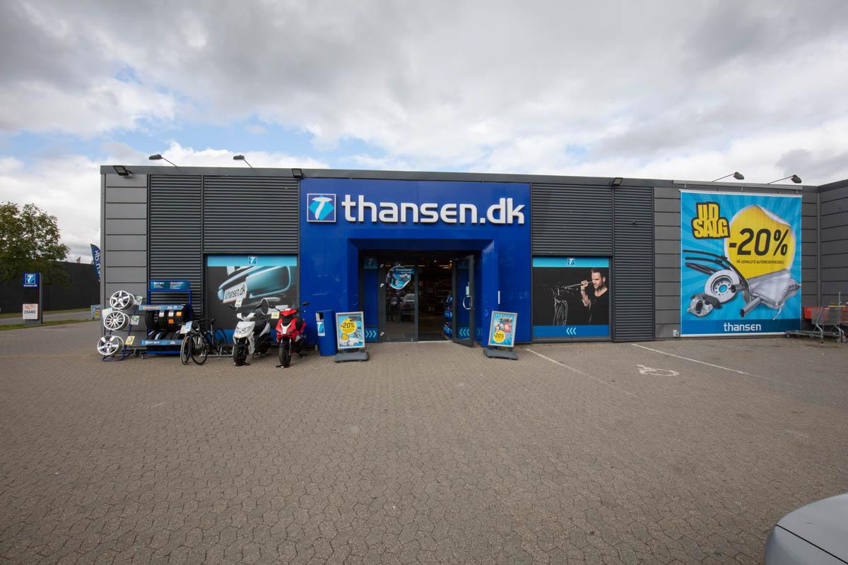thansen Randers butikkens åbningstider og adresse