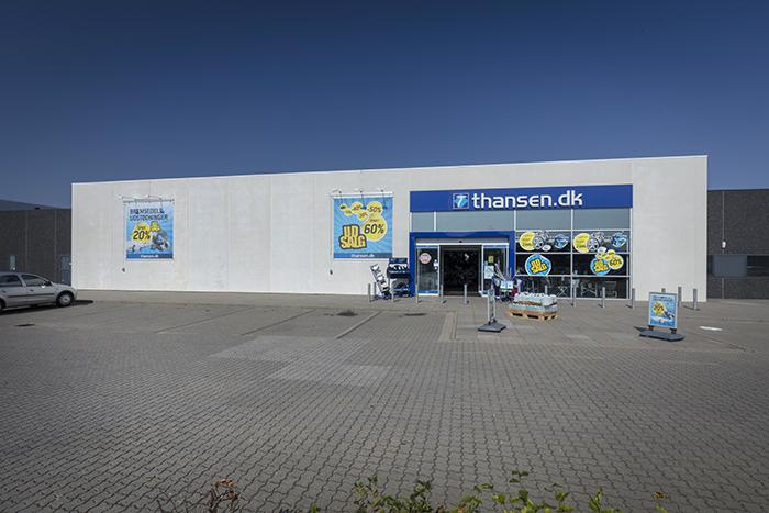 thansen Ringkøbing butikkens åbningstider og adresse