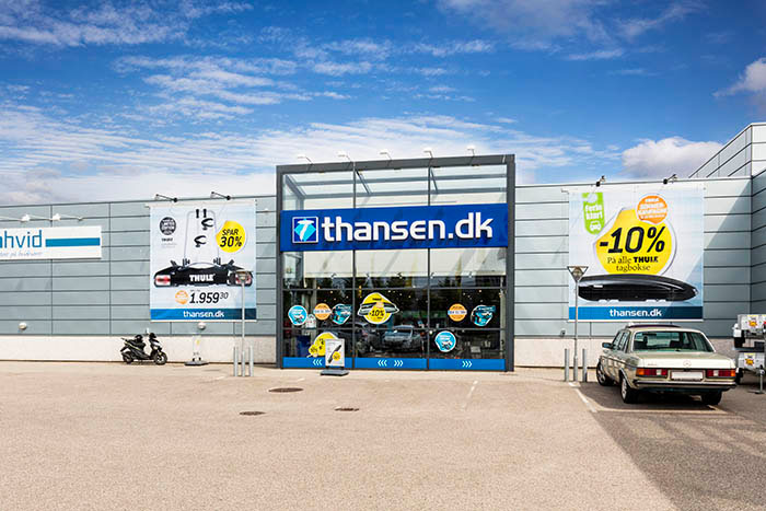thansen Roskilde butikkens åbningstider og adresse